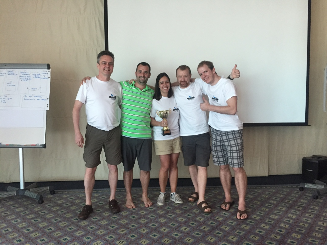 The winners of the Shark Tank 2017 - congratulations Hans, Benoit, Mercedes, Nico and Jeroen!