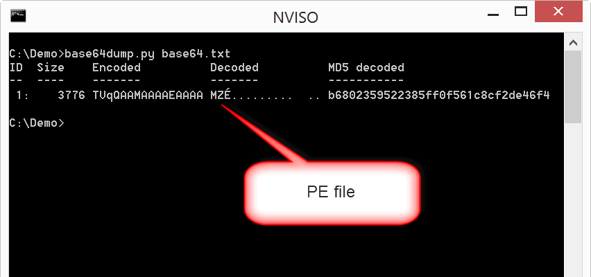 Decoding malware via simple statistical analysis – NVISO Labs