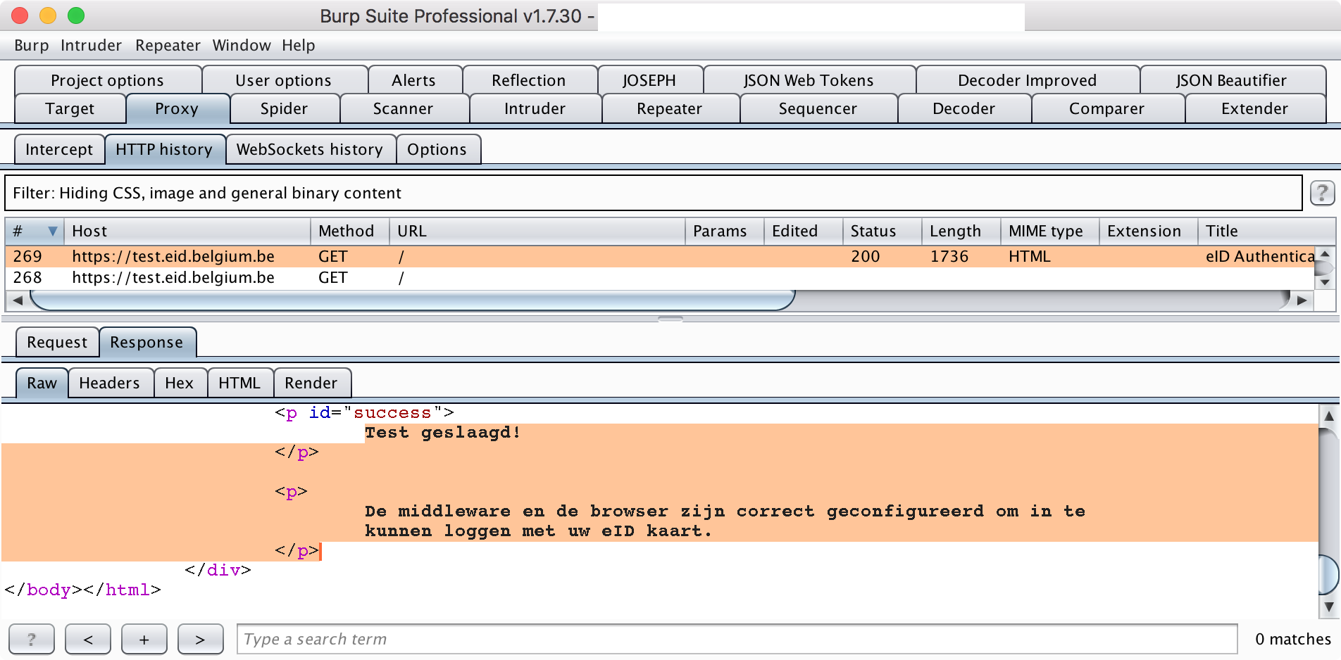 Intercepting Belgian eID (PKCS#11) traffic with Burp Suite